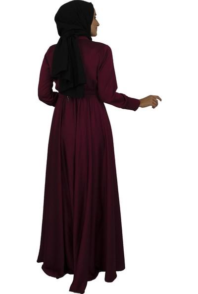 Arda New Line Kadın Mürdüm Elbise 3304214-10.21