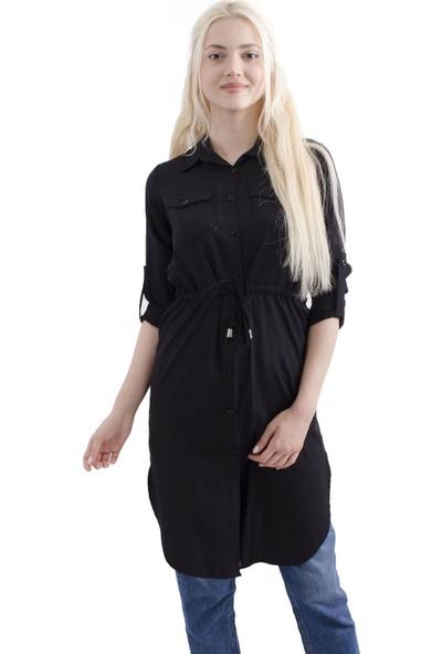 Arda New Line Kadın Siyah Tunik 3541755-10.01
