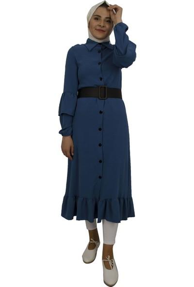 Arda New Line Kadın Indigo Elbise 9407589-10.98