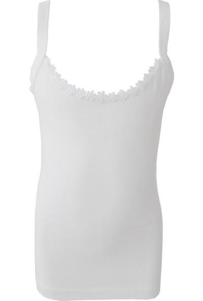Özkan Underwear 0805 6'lı Paket Kız Çocuk Ribana İp Askılı Atlet