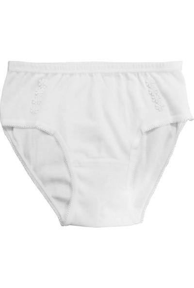 Özkan Underwear 0825 6'lı Paket Kız Çocuk Ribana Papatyalı Külot