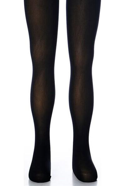 Bella Calze Siyah Çocuk Opak Külotlu Çorap
