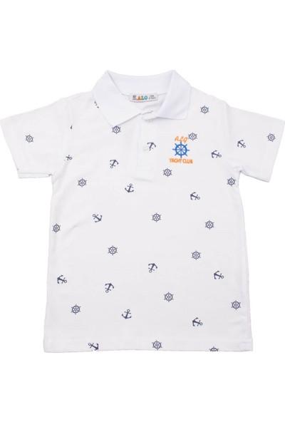 Alg Dümen Nakışlı Beyaz Çocuk T-Shirt