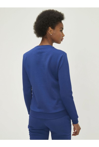 Xint Kadın Yuvarlak Yaka Taş Yapıştırmalı Sweatshirt