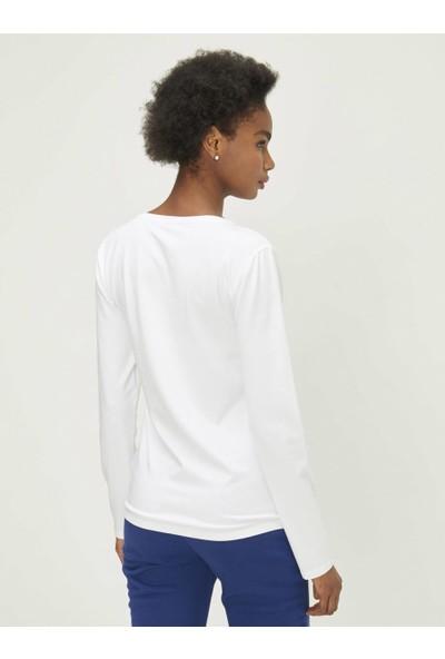 Xint Kadın Yuvarlak Yaka Baskılı Tişört
