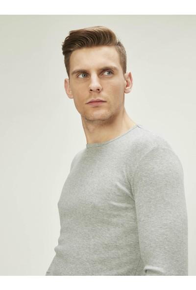 Xint Erkek Bisiklet Yaka Uzun Kollu Basic Tişört