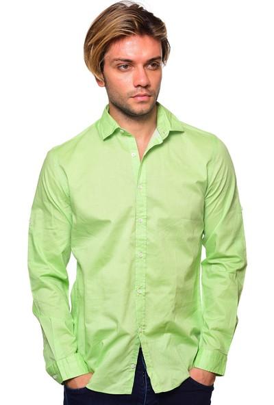 Icb London Uzun Kollu Keten Gömlek