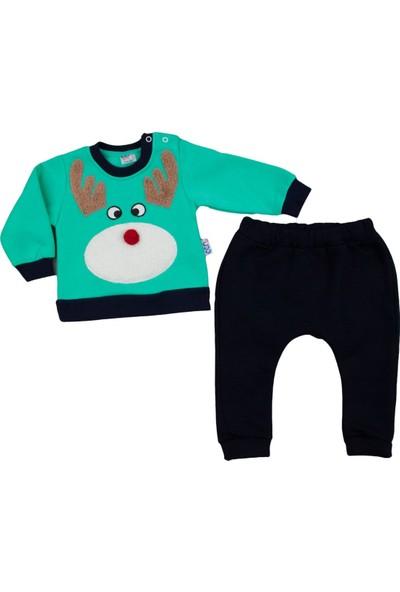Ecr Sport Peluşlu Geyik Yeşil Bebek Takım