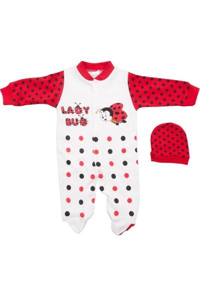 Sercinyo Baby Uğurböceği Kırmızı Şapkalı Bebek Tulum