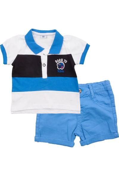 Mini Polli Born To Mavi Şortlu Takım