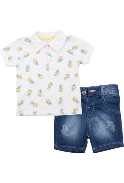 Mini Polli Ananas Kot Şortlu Bebek Takım
