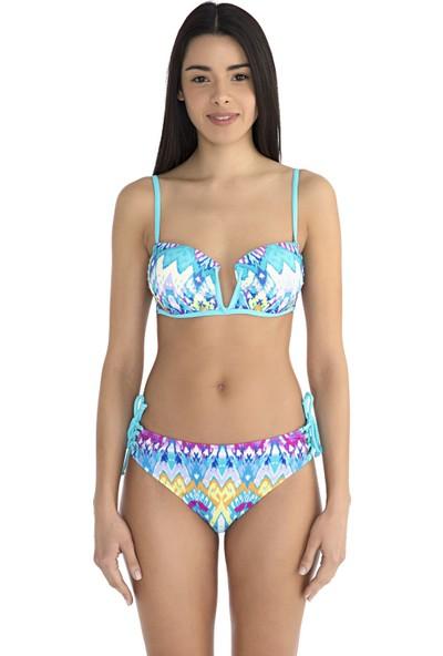 Sunset Kadın Kaplı Straplez Bikini