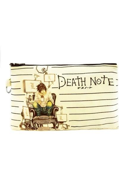 Bant Giyim - Death Note L Kira Bez Cüzdan Clutch El Çantası