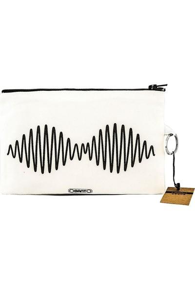 Bant Giyim - Arctic Monkeys Bez Cüzdan Clutch El Çantası