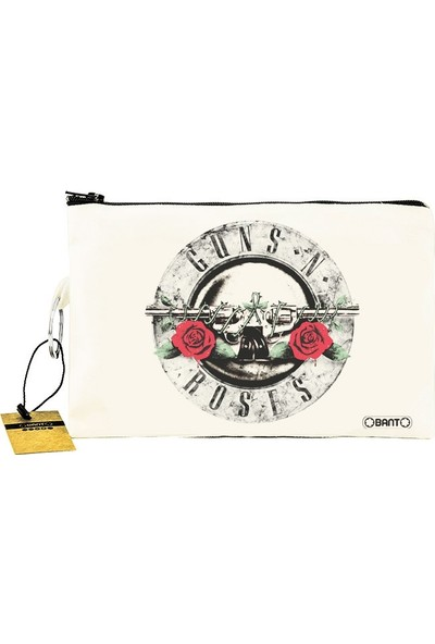 Bant Giyim - Guns N' Roses Bez Cüzdan Clutch El Çantası