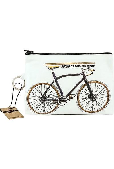 Bant Giyim - Bisiklet Bez Cüzdan Clutch El Çantası