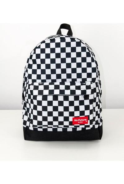 No Future Checkerboard Sırt Çantası / Okul Çantası