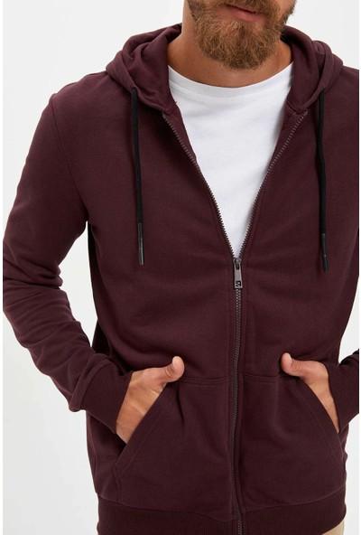 DeFacto Kapüşonlu Fermuarlı Sweatshirt L0980AZ19AU