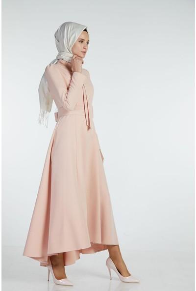 Sitare Önü Kravatlı Elbise 19Y2578