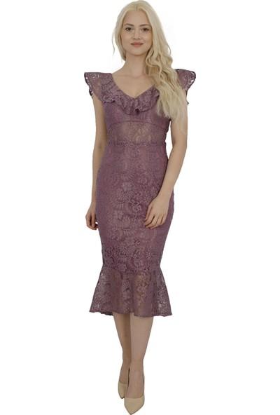Arda New Line Kadın Gül Elbise 130137-10.25