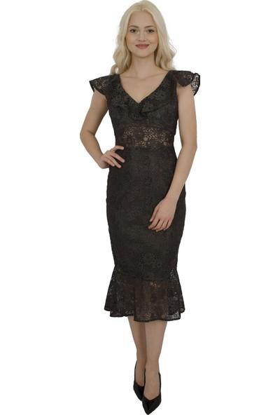 Arda New Line Kadın Antrasit Elbise 130137-10.315