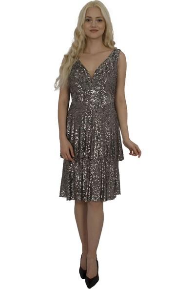Arda New Line Kadın Gri Elbise 130146-10.06