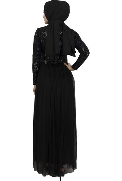 Arda New Line Kadın Siyah Abiye 6502166-10.01