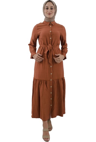 Arda New Line Kadın Kiremıt Elbise 7709192-10.48