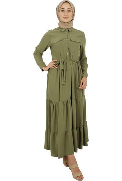 Arda New Line Kadın Haki Elbise 9403223-10.23