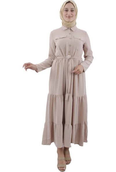 Arda New Line Kadın Bej Elbise 9403223-10.55