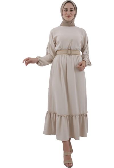 Arda New Line Kadın Bej Elbise 9403229-10.55