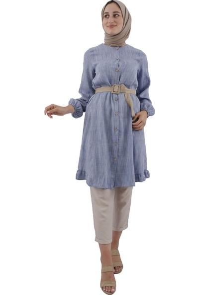 Arda New Line Kadın Mavı Tunik 9407697-10.16