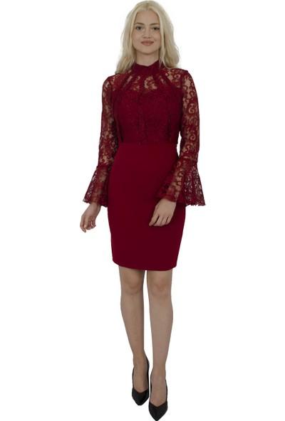 Arda New Line Kadın Bordo Elbise 9704549-10.04