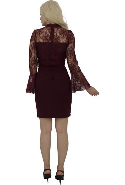 Arda New Line Kadın Mürdüm Elbise 9704549-10.21