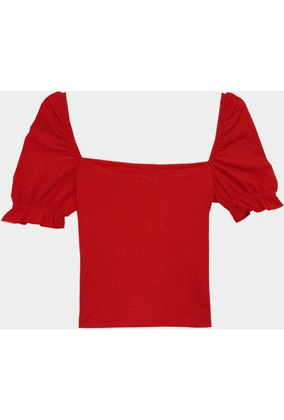 Coten Concept Kadın Kolları Lastikli Bluz
