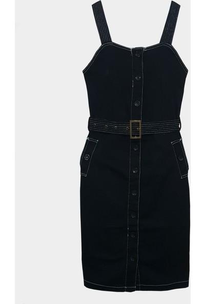 Coten Concept Kadın Askılı Kalp Yaka Elbise