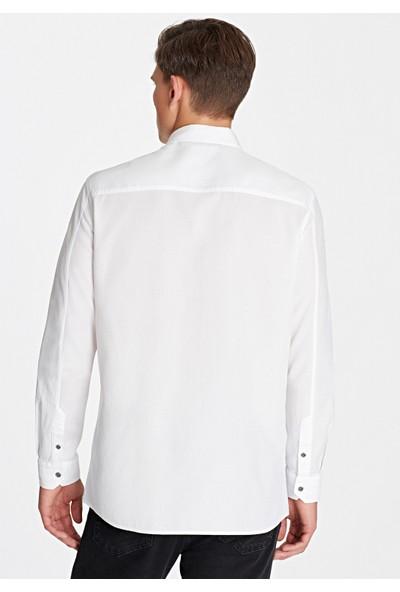 Mavi Erkek Beyaz Gömlek 021304-620