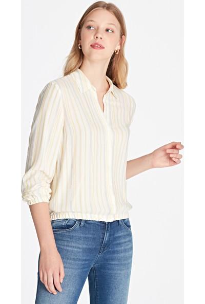 Mavi Kadın Uzun Kollu Gömlek