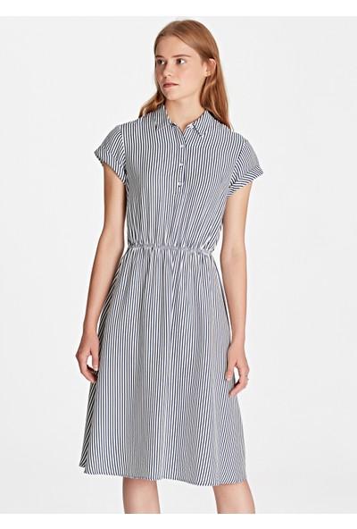 Siyah Çizgili Elbise 130793-29707