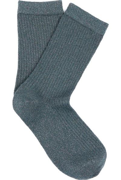 Simli Yeşil Uzun Çorap 197057-29811