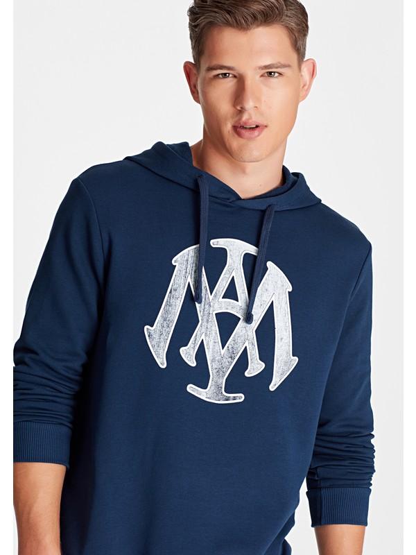 Mavi Erkek Mavi Mühür Logo Baskılı Lacivert Sweatshirt 065753-29743