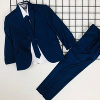 Terry Ceketli Uzun Kol Gömlekli Erkek Çocuk Takım - Lacivert - 1 Yaş ( 80 cm )