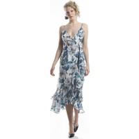 Lefon Kadın Çiçek Baskılı Elbise
