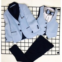 Messy Ceketli Yelekli Erkek Çocuk Takım - Mavi - 3 Yaş ( 98 cm )