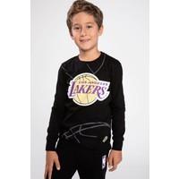 Defacto Erkek Çocuk Lakers Logo Baskılı Lisanslı Sweatshirt