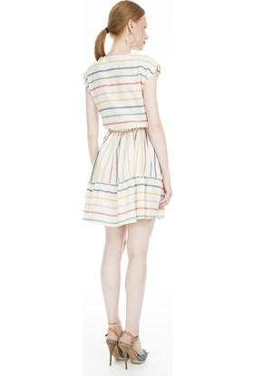 Lela Çizgili Mini Elbise Kadın Elbise Mk19S283174