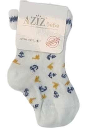 Aziz Bebe C35264 Çapalı Dikişsiz Yeni Doğan Çorap