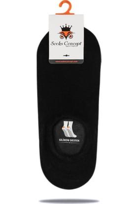 Socks Concept Sneakers Siyah Renk Silikonlu Babet Çorap