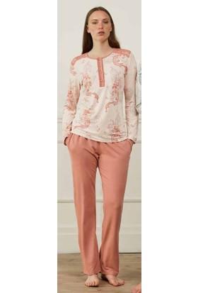 Feyza 3568B Kadın Uzun Kollu Büyük Beden Pijama Takımı