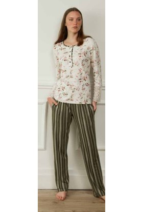 Feyza 3583 Kadın Uzun Kollu Pijama Takımı